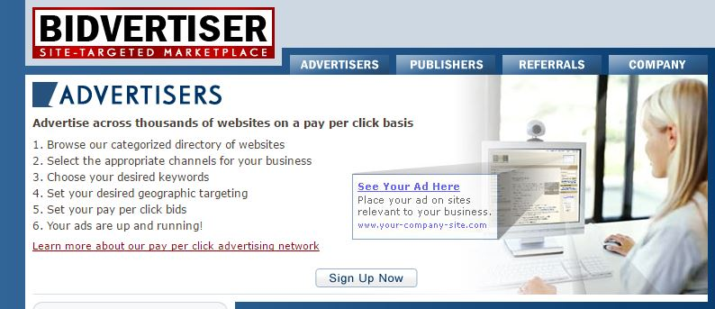 bidvertiser - adsense alternative