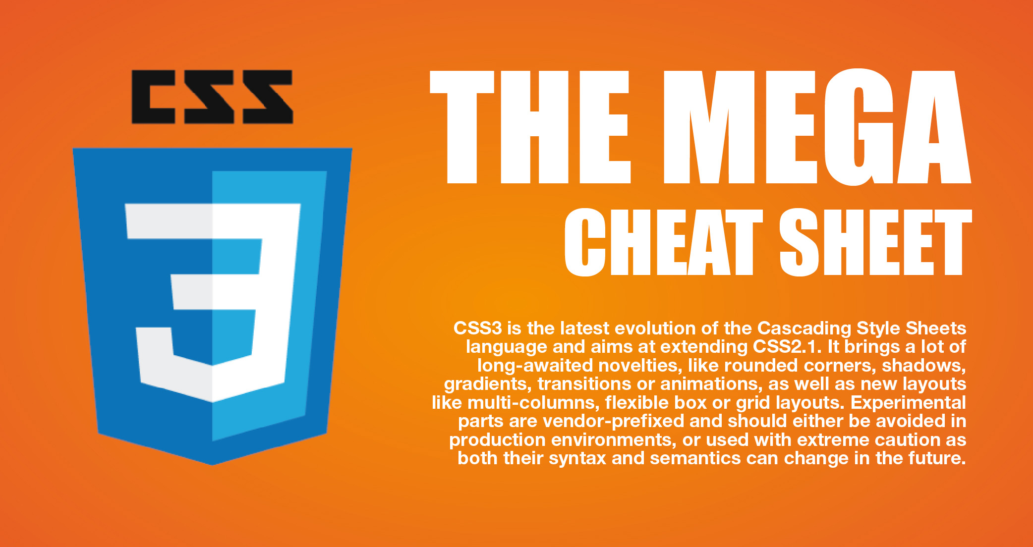 css3 cheat sheet header image