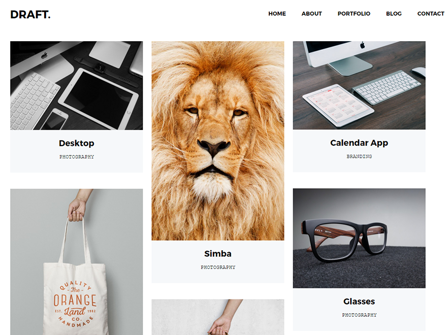 draft-portfolio-wordpress-theme