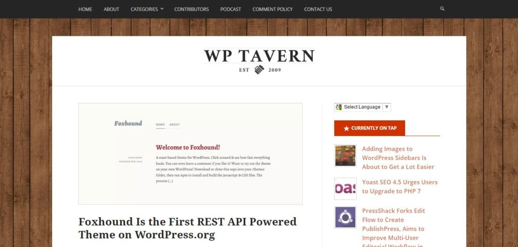 WordPress Tavern Is A Site Thatu0027s Very Simple In Construction And Design,  Yet Is Extremely Popular With The WordPress Dev Community.