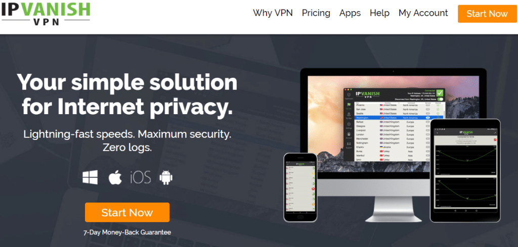 IP Vanish Homepage best vpn