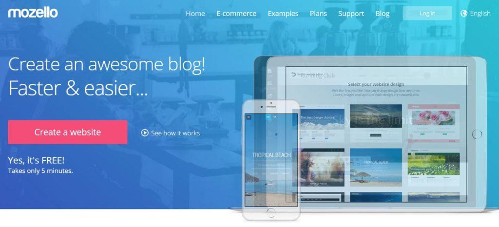 mozello free web builder