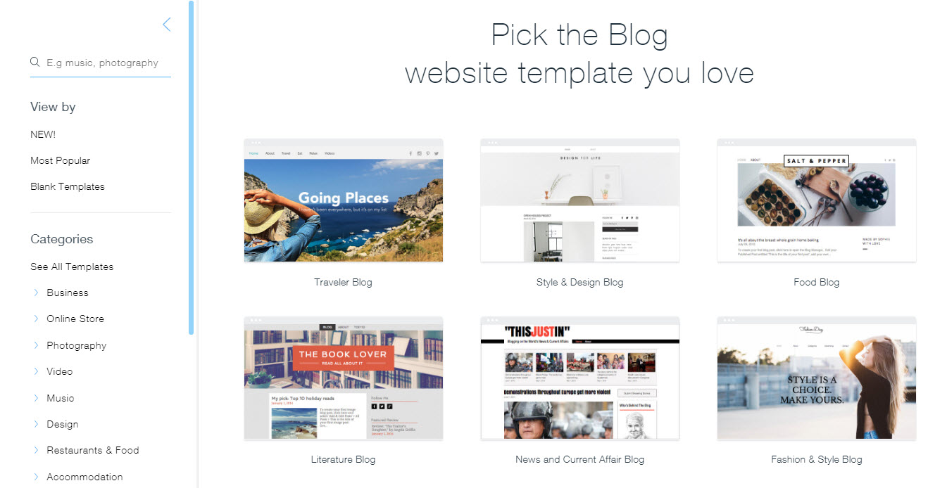 How To Build A Blog With Wix - Wix ecommerce templates