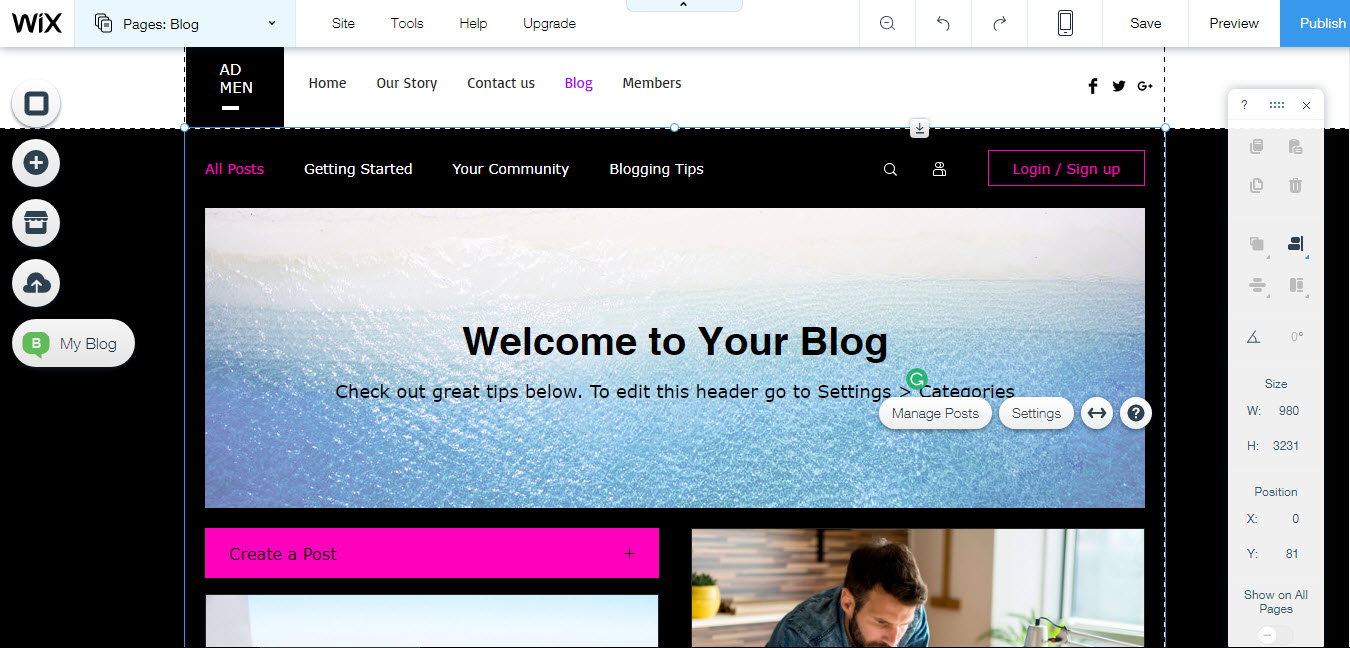 How to build a blog with wix for Build blog